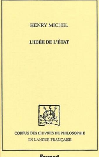 L'Idée de l'Etat, 1895