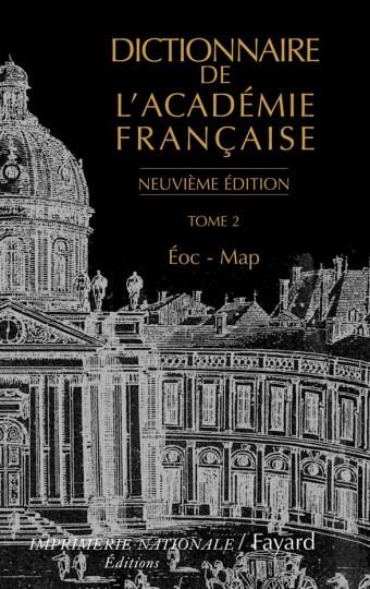 Dictionnaire de l'Académie française, tome 2 (Neuvième Édition)