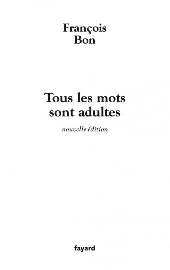 Tous les mots sont adultes