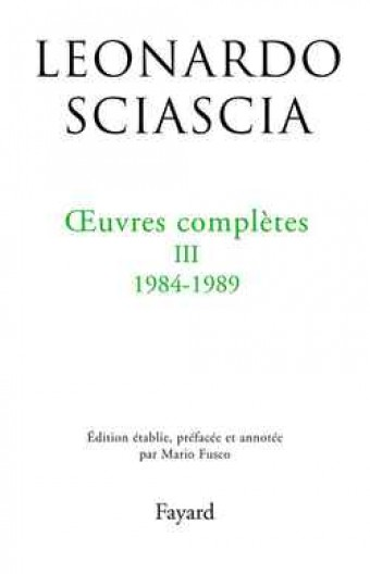 Oeuvres complètes, tome 3