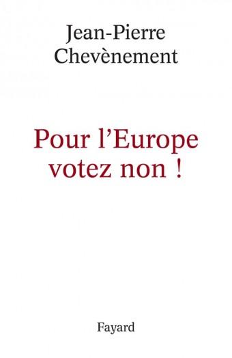 Pour l'Europe votez non !