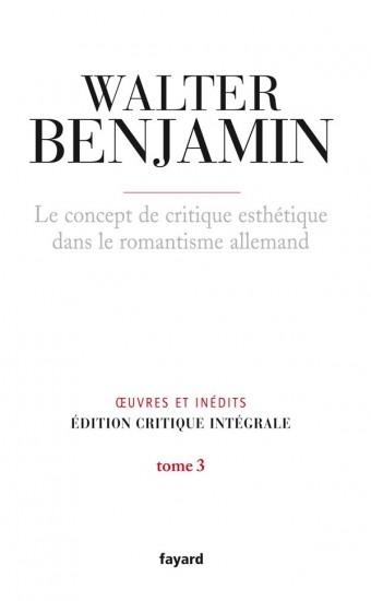 Le concept de critique esthétique dans le romantisme allemand