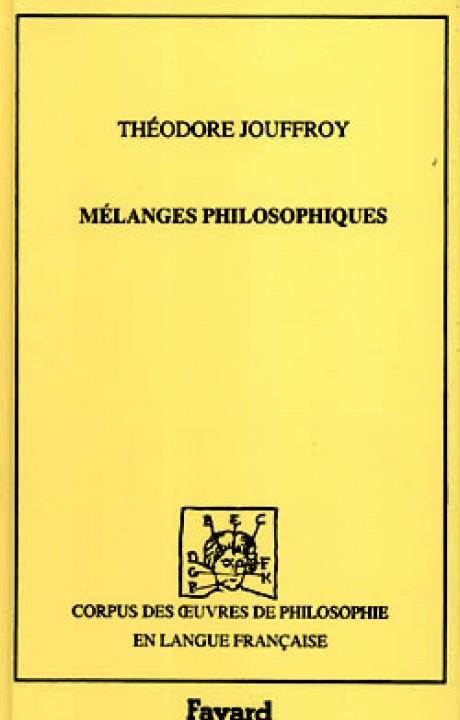 Mélanges philosophiques, 1833-1842