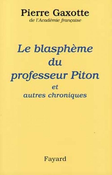 Le Blasphème du professeur Piton