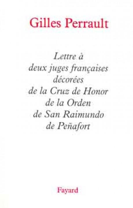 Lettre à deux juges françaises décorées de la Cruz de Honor de la Orden de San Raimundo de Penafort