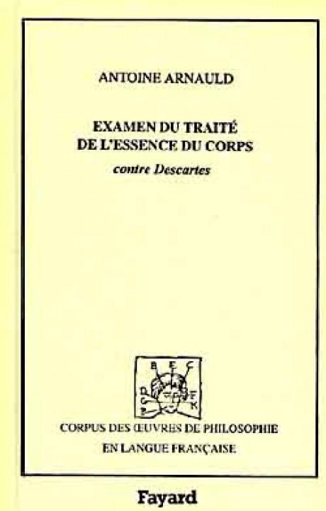 Examen du traité de l'essence du corps