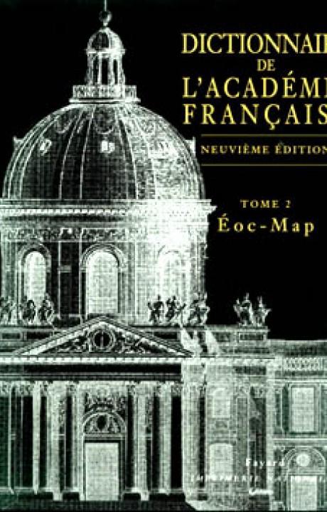 Dictionnaire de l'Académie française, tome 2