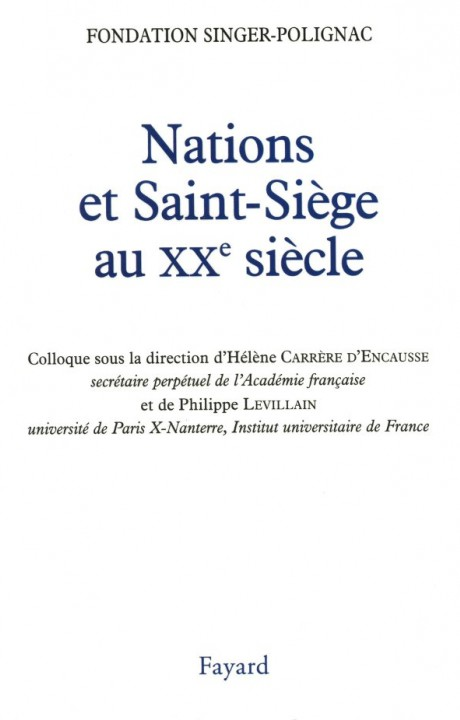Nations et Saint-Siège au XXe siècle
