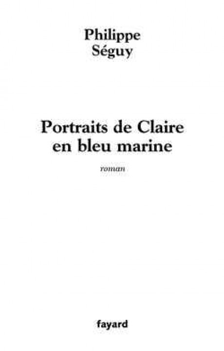 Portraits de Claire en bleu marine