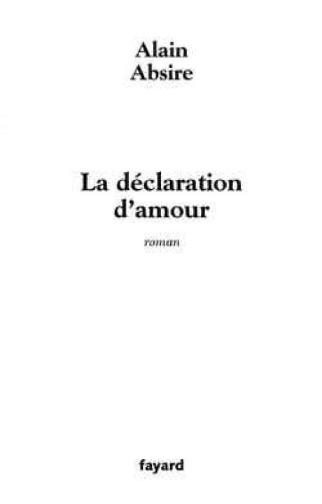 La déclaration d'amour