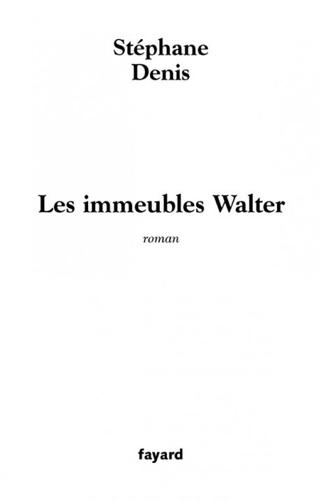 Les Immeubles Walter