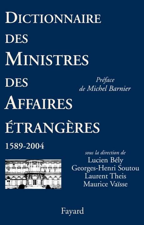 Dictionnaire des ministres des Affaires étrangères