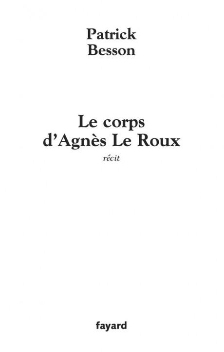 Le corps d'Agnès Le Roux