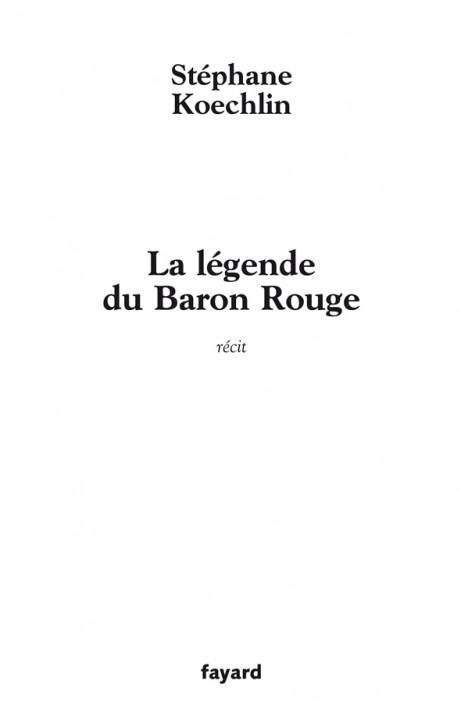 La légende du Baron Rouge