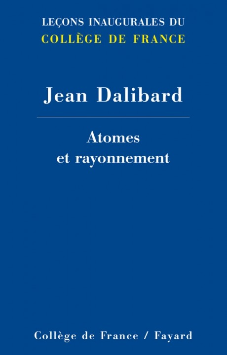 Atomes et rayonnement