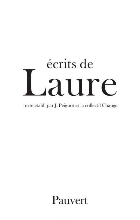Ecrits de Laure
